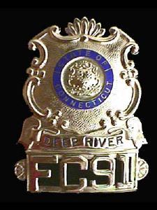 Connecticut Deep River Hat Badge